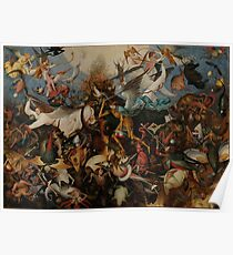 Pieter Bruegel the Elder - The Fall of the Rebel Angels Poster