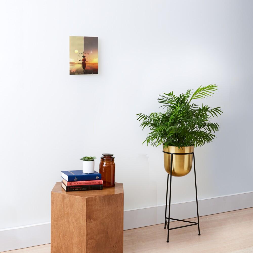Libra - Digital Collage Mounted Print