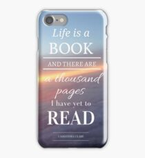 Life is a book- Cassandra Clare- Sunset iPhone Case/Skin