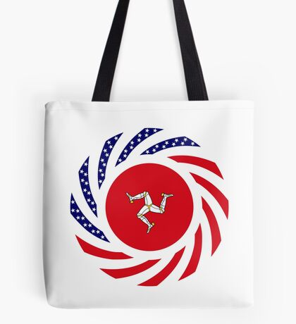 Manx American Multinational Patriot Flag Series Tote Bag
