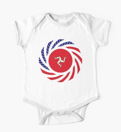 Manx American Multinational Patriot Flag Series Kids Clothes