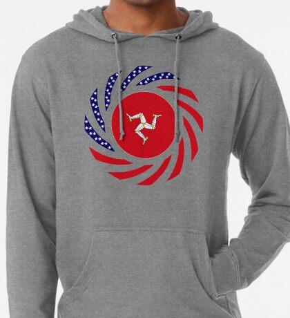 Manx American Multinational Patriot Flag Series Lightweight Hoodie