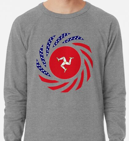 Manx American Multinational Patriot Flag Series Lightweight Sweatshirt