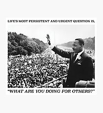 Martin Luther King, Jr. Picture and Quote Photographic Print