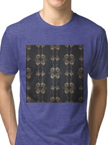 Damask vintage floral pattern Tri-blend T-Shirt