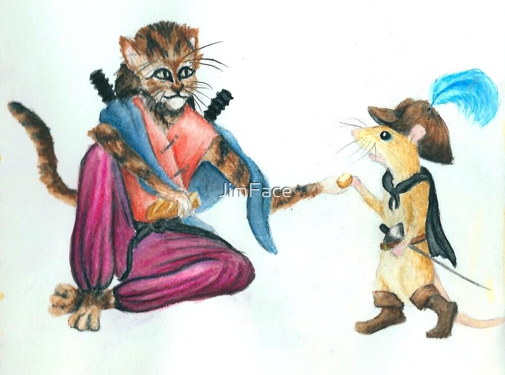 Catfolk Ninja Mit Ratfolk Swashbuckler Von Jimface Redbubble