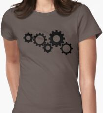 Gears - Black Women's Fitted T-Shirt