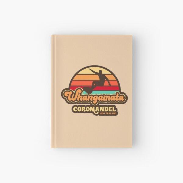 Whangamata Retro Surfing New Zealand Hardcover Journal