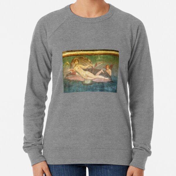 Naked Woman Venus On Clamshell Fresco Pompeii Roman Lightweight Sweatshirt