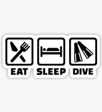 Eat sleep dive Sticker
