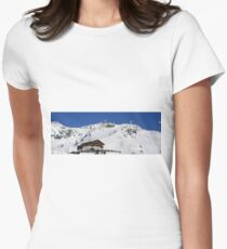 Panoramic view of the mountains Women's Fitted T-Shirt