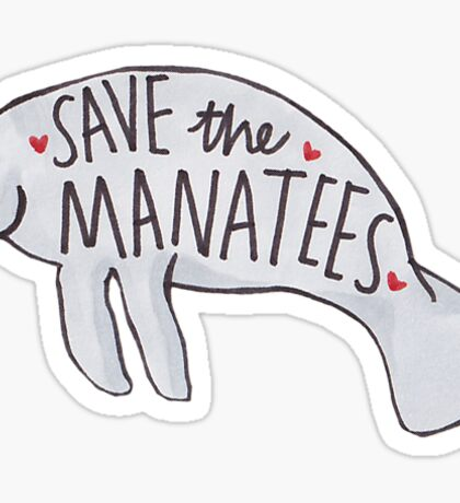 Save the Manatees Sticker