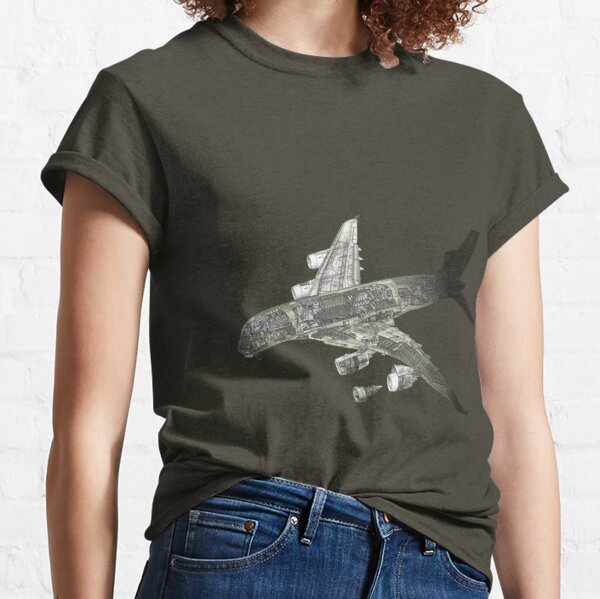 Airbus A 380 cutaway Classic T-Shirt