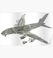 Airbus A 380 Cutaway Poster