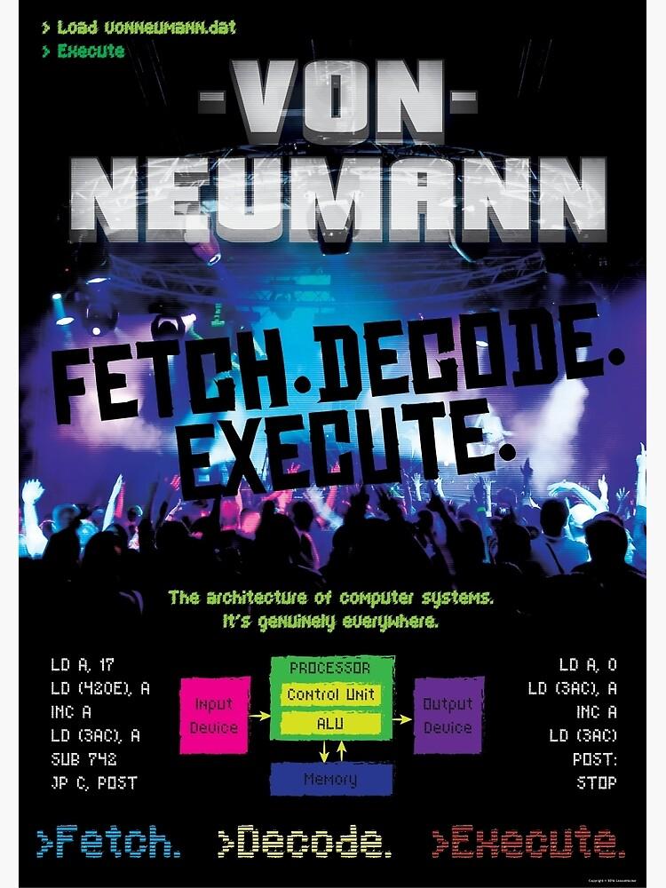 Von Neumann Architecture: Mock Band Tour Poster by lessonhacker