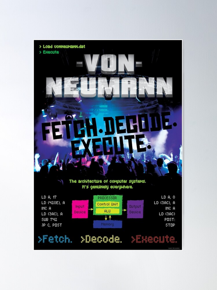 Alternate view of Von Neumann Architecture: Mock Band Tour Poster Poster