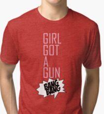 TOKIO HOTEL - GIRL GOT A GUN Tri-blend T-Shirt