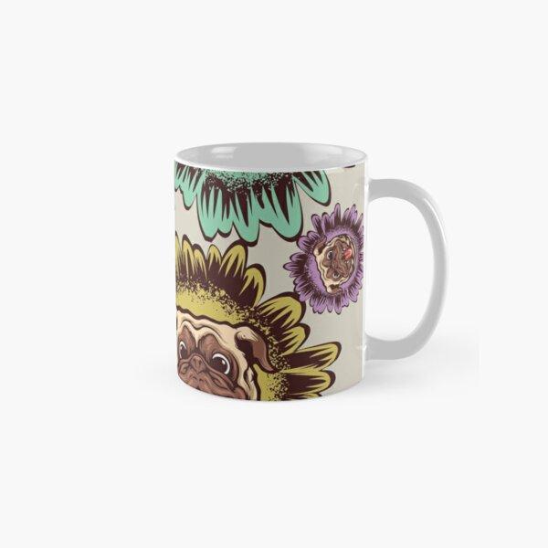 pug doggy & Sunflower_1_colorful Classic Mug