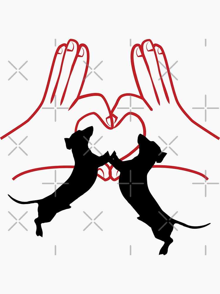 Dachshund proud family. I love dachshund dogs by CWartDesign