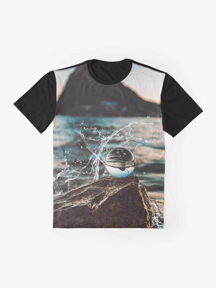 Alternate view of Ocean water droplet - Funny  Graphic T-Shirt