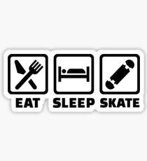 Eat sleep skate Sticker