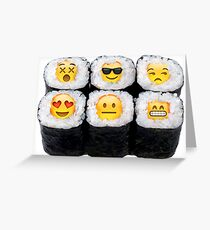 Emoji Sushi Greeting Card