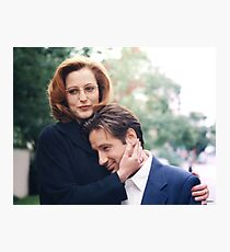 dana scully x files fox mulder Photographic Print
