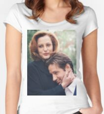 dana scully x files fox mulder Women's Fitted Scoop T-Shirt