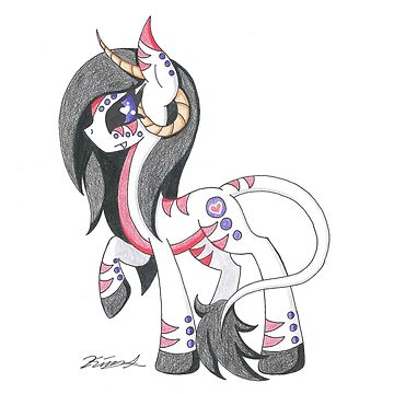OC Pony Tribal Horned by KimmieKat97