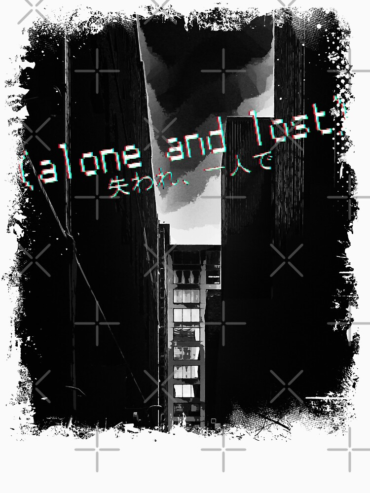 Alone and lost - Sad quote with streetscape background. by RabbitLair