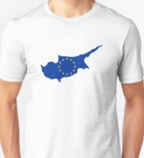 European Union Flag Map of Cyprus T-Shirt