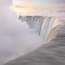 Niagara Falls beautiful sunrise in soft light colors art photo print by ArtNudePhotos