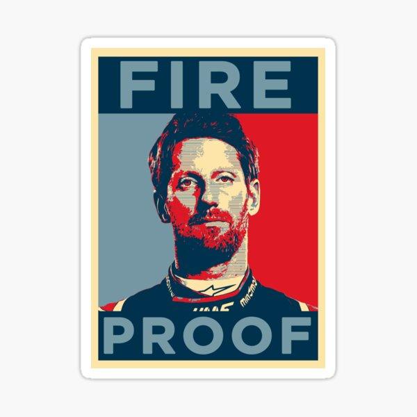Romain Grosjean Fire proof Sticker