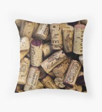 Wine Corks 2 Throw Pillow