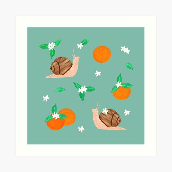 Snails and Oranges Art Print