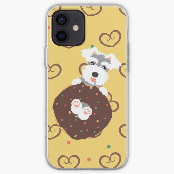 Love Miniature Schnauzer and Donut iPhone Soft Case
