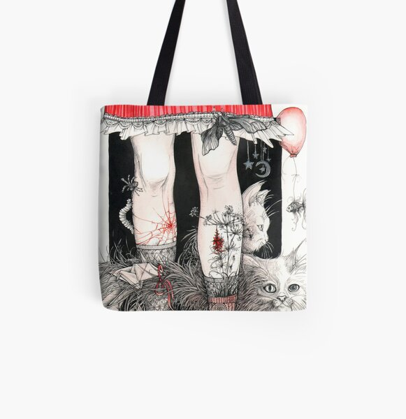 Legs All Over Print Tote Bag