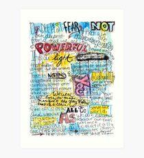 """Lámina artística Cita de Marianne Williamson - """"Nuestro miedo más profundo no es que somos inadecuados"""""""