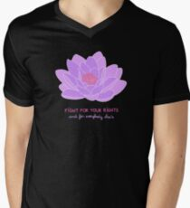 Fight for your Rights (and for Everybody Else's) - Purple Water Lily T-Shirt