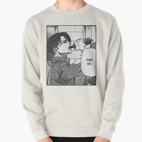 "Levi Ackerman ""Fuck Off"" Sticker Pullover Sweatshirt"