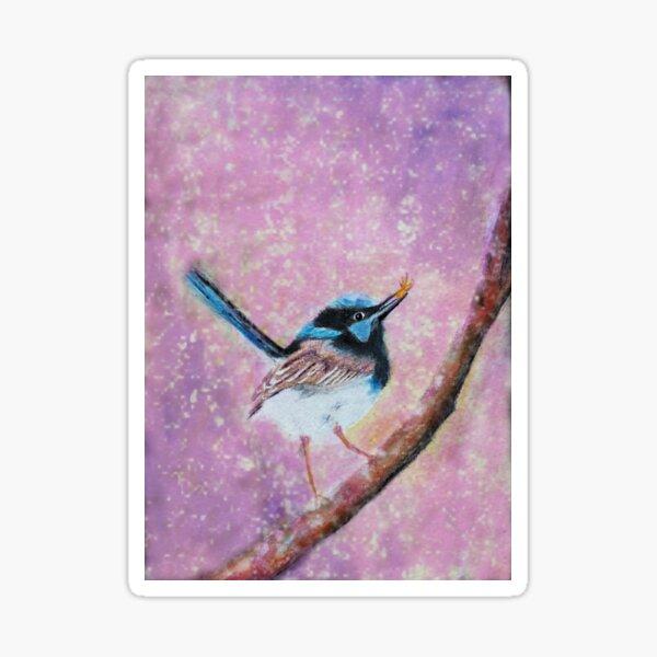 Blue Wren Australian Bird Sticker