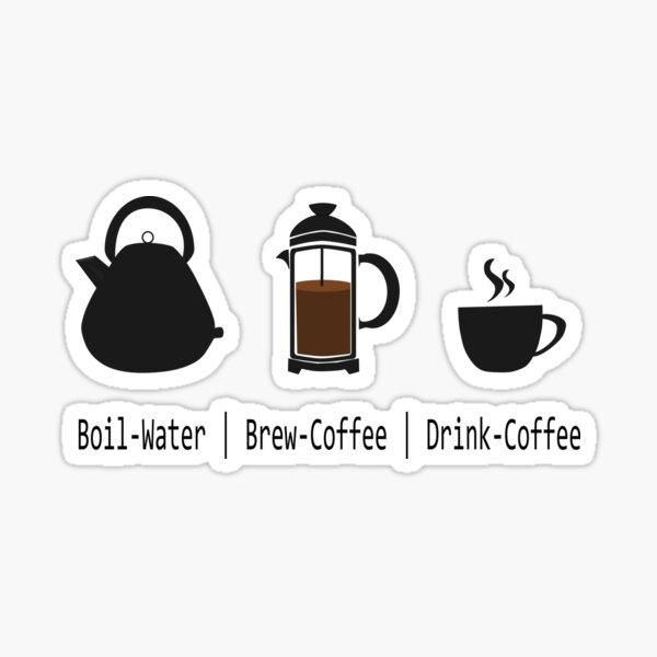 Coffee Brew Stickers | Redbubble