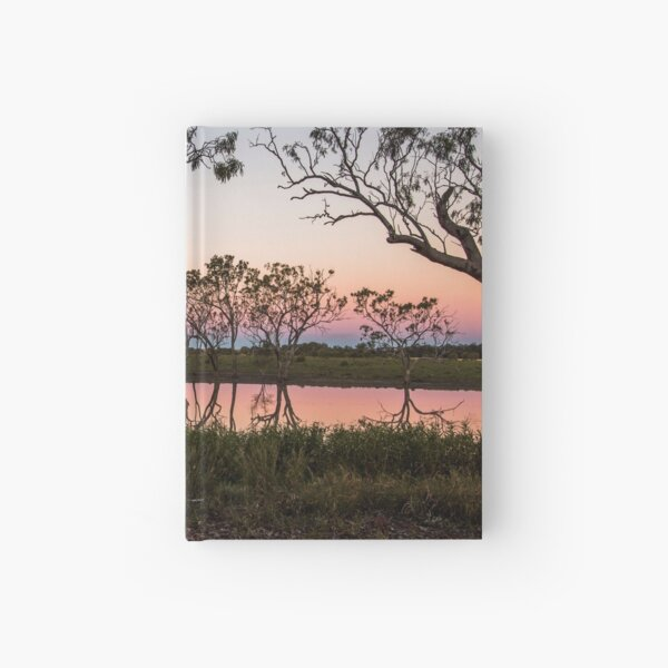 Queensland outback sunset Hardcover Journal
