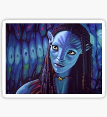 Zoe Saldana as Neytiri in Avatar Sticker