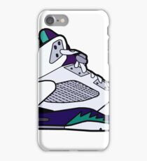 Jordan 5 Retro Grape Shoes iPhone Case/Skin