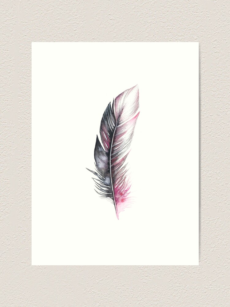 Alternate view of Watercolor Feather Art Art Print
