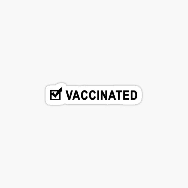 Vaccinated checklist Sticker