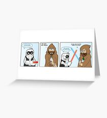Lightsaber Duel Greeting Card