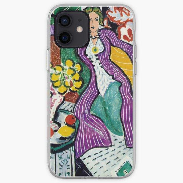 Woman Henri In A Purple Coat iPhone Soft Case