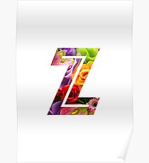 The Letter Z - Flowers Poster
